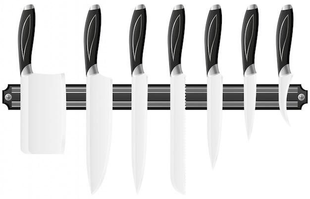 Set de couteaux pour la cuisine.