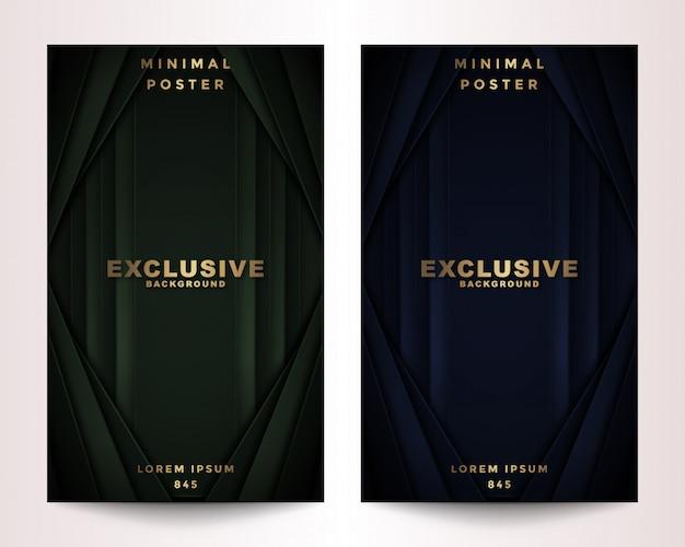 Set de couverture polygonal dark & golden