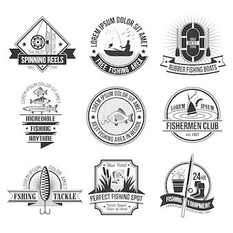 Set d'emblèmes de pêche
