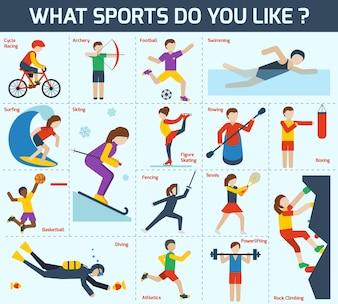 Set d'icônes de sport