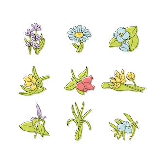 Set design logo modèles colorés et emblèmes