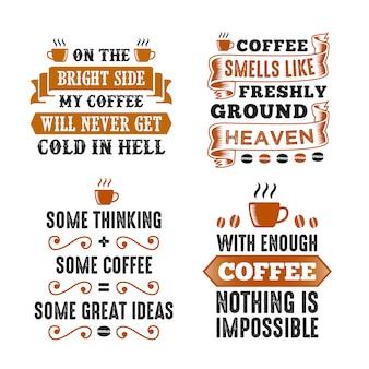 Set à dire et citation café