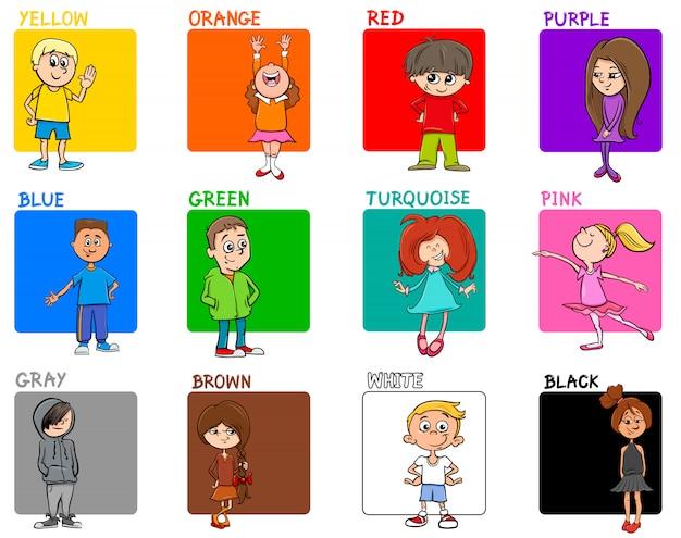 Set éducatif couleurs avec personnages