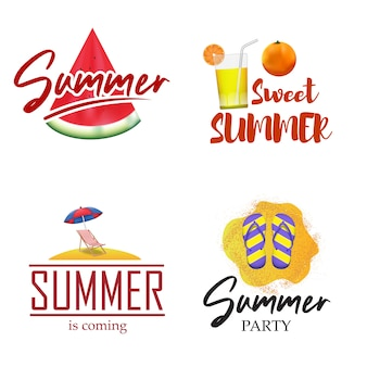 Set emblème insigne de vacances d'été