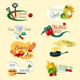 Set d'emblèmes de cuisine