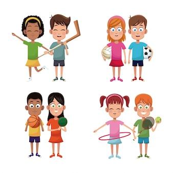 Set enfants sport joueur