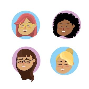 Set femme enseignant avec un design de coiffure