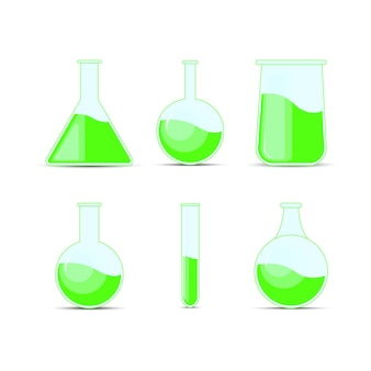 Set flacon chimique, bouteilles, potions pour halloween et chimie