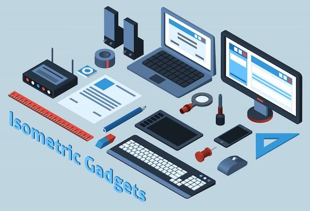 Set de gadgets isométriques