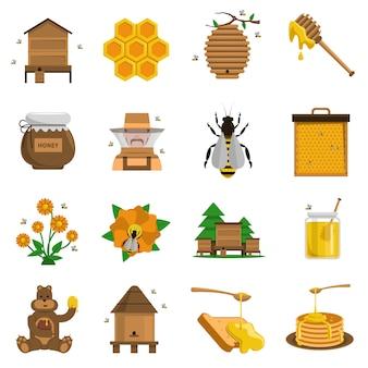 Set d'icônes au miel
