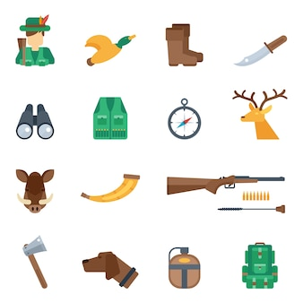 Set d'icônes de chasse
