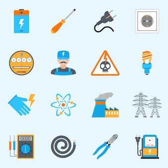 Set d'icônes d'électricité