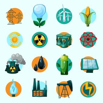 Set d'icônes d'énergie