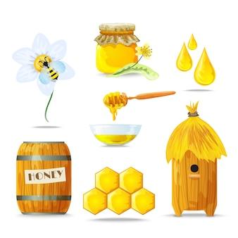 Set d'icônes de miel