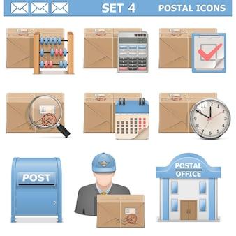 Set d & # 39; icônes postales 4
