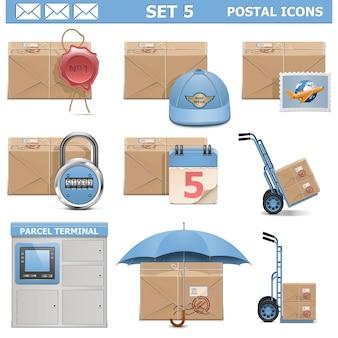 Set d & # 39; icônes postales 5