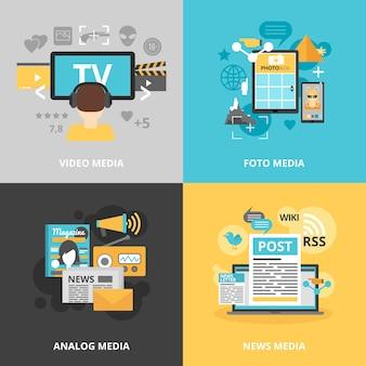 Set d'icônes de presse