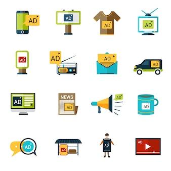 Set d'icônes de publicité