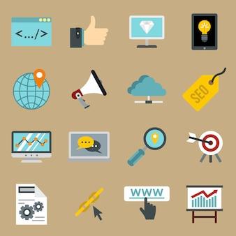 Set d'icônes de référencement