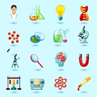 Set d'icônes de la science