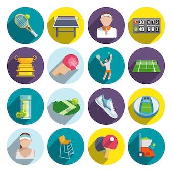 Set d'icônes de tennis