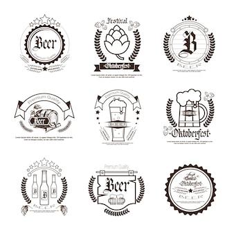 Set d'insignes festival de la bière oktoberfest