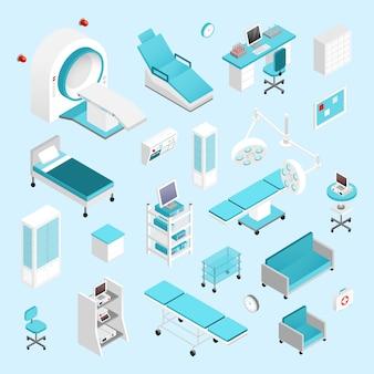 Set isométrique d'hôpital
