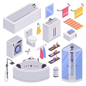Set isométrique de salle de bain