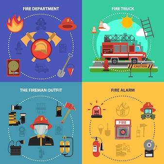 Set de lutte contre l'incendie