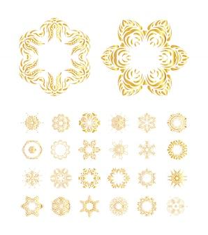 Set de mandala doré