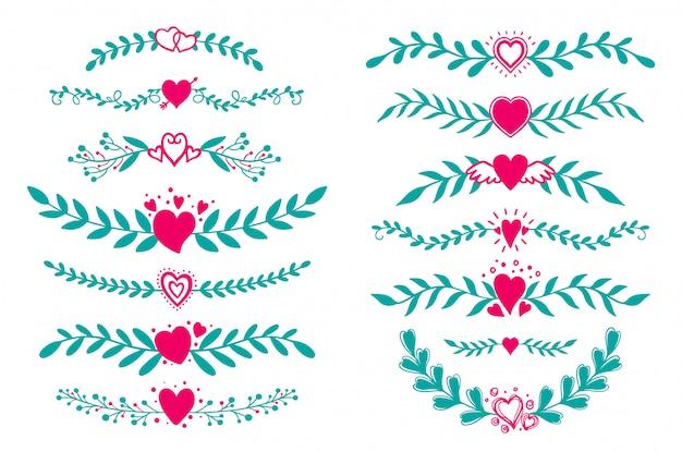 Set ornement de flore diviseur