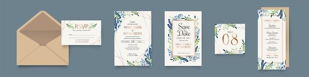 Set de papeterie de mariage floral