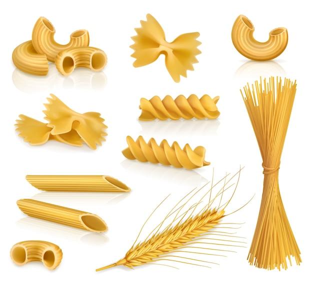 Set de pâtes, illustration vectorielle