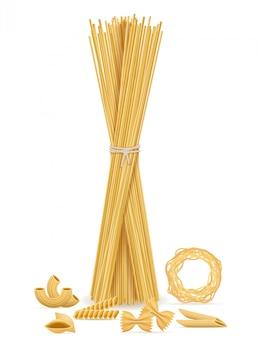 Set de pâtes vector illustration