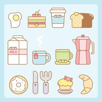 Set de petit déjeuner kawaii