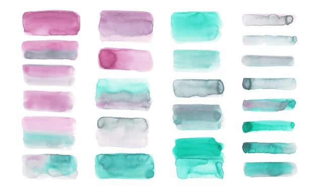 Set de pinceau aquarelle pastel isolé