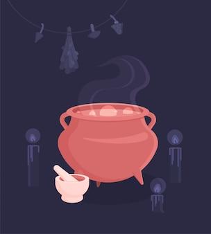 Set pour le rituel magique des sorcières.