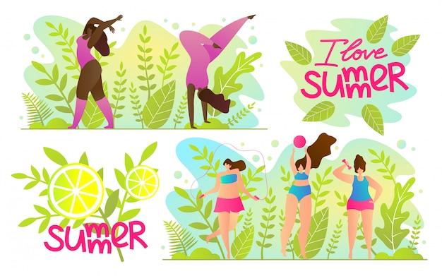 Set publicité flyer inscription j'aime l'été