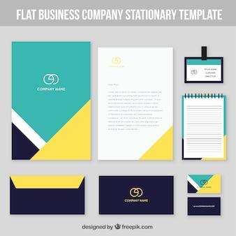 Set de résumé papeterie d'affaires