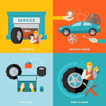 Set de service de pneu