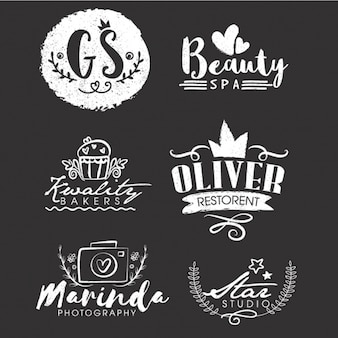 Set avec six logos pour le type d'entreprise différent