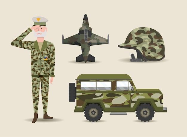 Set soldat et armée militaire