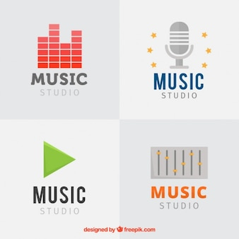 Set studios de musique logos