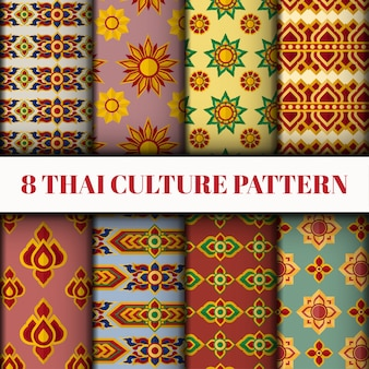 Set de style thaïlandais vector