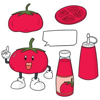 Set de tomates et ketchup à la tomate