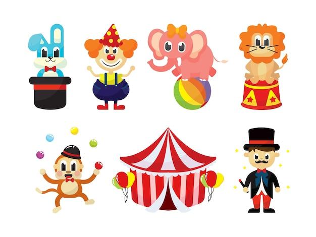 Set de vecteur de cirque