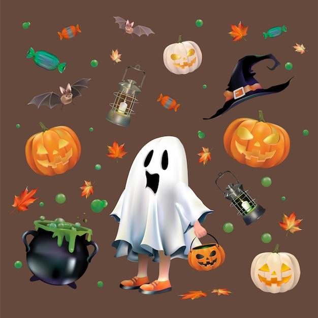 Set de vecteur d'halloween