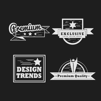 Set de vector badge qualité premium