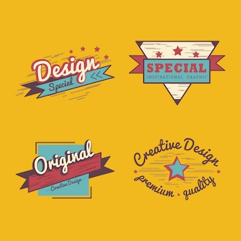 Set de vector badge qualité premium