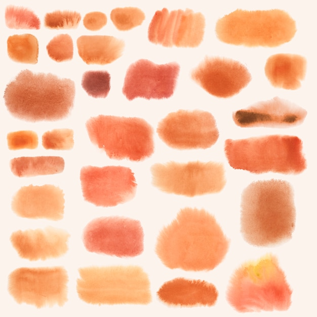 Set de vector bannière orange aquarelle